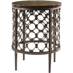 Hillsdale Brescello Round End Table in Charcoal