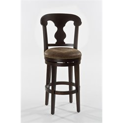 Hillsdale Burkard Faux Leather Swivel Bar Stool in Dark Brown