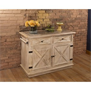 Hillsdale Carter Kitchen Island in Light Gray Marble
