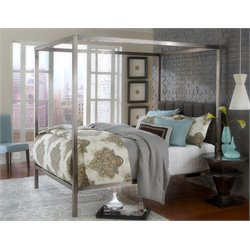 Hillsdale Chatham King Canopy Bed in Antique Nickel