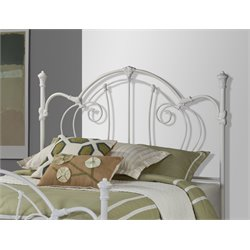 Hillsdale Cherie King Metal Poster Spindle Headboard in Ivory