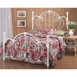 Hillsdale Cherie Queen Metal Poster Spindle Bed in Ivory