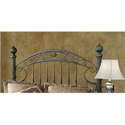 Hillsdale Chesapeake King Metal Poster Spindle Headboard in Brown