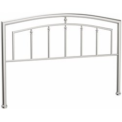 Hillsdale Claudia Spindle Headboard in Matte Nickel