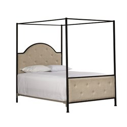 Hillsdale Curlin King Canopy Bed in Old Black
