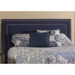 Hillsdale Davis Upholstered Queen Panel Headboard in Navy
