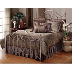 Hillsdale Doheny Full Metal Poster Spindle Bed in Antique Pewter
