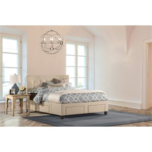 Duggan 6 Drawer Upholstered Storage Panel Bed
