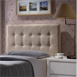 Hillsdale Duggan Upholstered Twin Panel Headboard in Beige