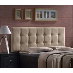 Hillsdale Duggan Upholstered Queen Panel Headboard in Beige