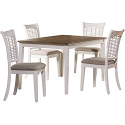 Embassy 5 Piece Dining Set in White