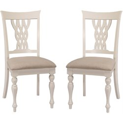 Hillsdale Embassy Dining Chair in White (Set of 2)