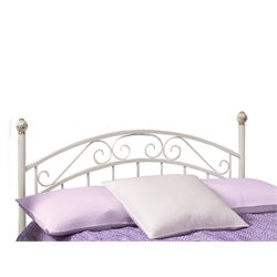 Hillsdale Emily Full Metal Poster Spindle Headboard in White