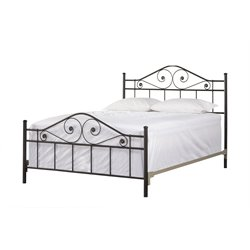 Hillsdale Harrison Full Poster Bed in Textured Black