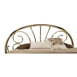 Hillsdale Jackson King Spindle Headboard in Classic Brass Plate