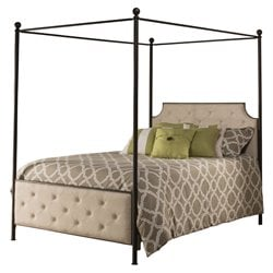 Hillsdale Jameson Queen Canopy Bed in Antique Bronze