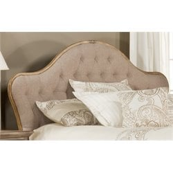Hillsdale Jefferson Upholstered King Panel Headboard in Beige