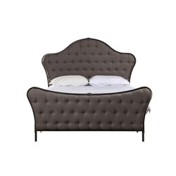 Hillsdale Jefferson Upholstered King Panel Bed in Old Black