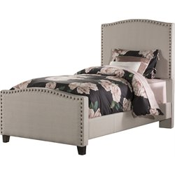 Kerstein Upholstered Panel Bed in Dove Gray