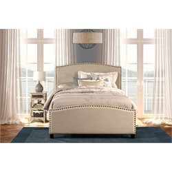 Hillsdale Kerstein Upholstered Twin Panel Bed in Light Taupe