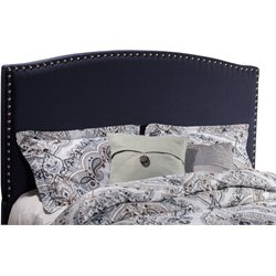 Hillsdale Kerstein Upholstered King Panel Headboard in Navy Linen