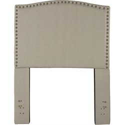 Hillsdale Kerstein Upholstered Twin Panel Headboard in Dove Gray