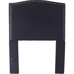 Hillsdale Kerstein Upholstered Twin Panel Headboard in Navy Linen