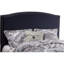 Hillsdale Kerstein Upholstered Queen Panel Headboard in Navy Linen