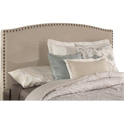 Hillsdale Kerstein Upholstered Queen Panel Headboard in Light Taupe