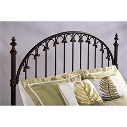 Hillsdale Kirkwell Full Queen Spindle Headboard in Brushed Bronze