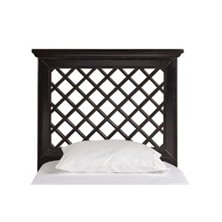 Hillsdale Kuri Full Queen Panel Headboard in Rubbed Black