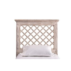 Hillsdale Kuri King Panel Headboard in Distressed White
