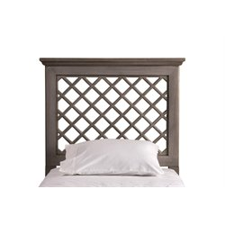 Hillsdale Kuri Full Queen Panel Headboard in Distressed Gray