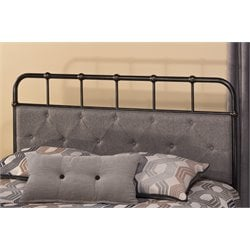 Hillsdale Langdon Upholstered Full Queen Panel Headboard in Rubbed Black