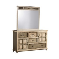 LaRose 4 Drawer Dresser in Rustic White Gray