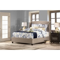 Hillsdale Lisa Upholstered King Panel Bed in Beige