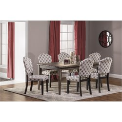 Hillsdale Lorient 7 Piece Dining Set in Washed Charcoal Gray