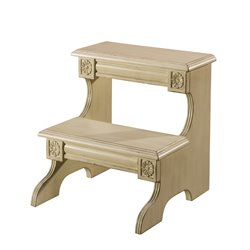 Hillsdale Louis Step Stool in Weathered White