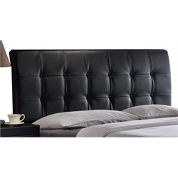 Hillsdale Lusso Faux Leather Upholstered Queen Panel Headboard in Black