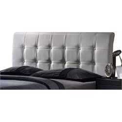Hillsdale Lusso Faux Leather Upholstered Queen Panel Headboard in White