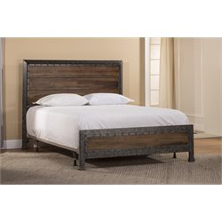 Hillsdale Mackinac Queen Panel Bed in Old Black