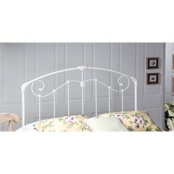 Hillsdale Maddie Twin Spindle Headboard in Glossy White