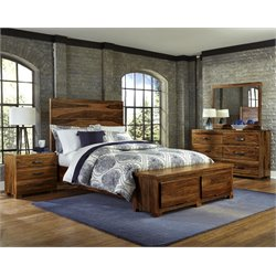Hillsdale Madera 4 Piece Queen Storage Bedroom Set in Natural