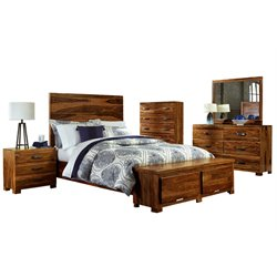Hillsdale Madera 5 Piece King Storage Bedroom Set in Natural