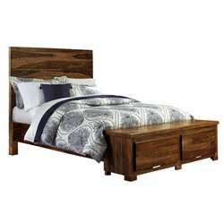 Madera Storage Panel Bed in Natural