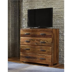 Hillsdale Madera 4 Drawer Media Chest in Natural