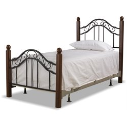 Hillsdale Madison Twin Poster Bed in Textured Black