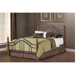 Madison Queen Poster Bed in Textured Black
