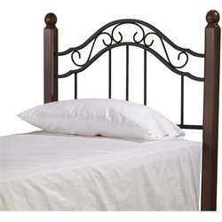 Hillsdale Madison Twin Poster Headboard in Textured Black