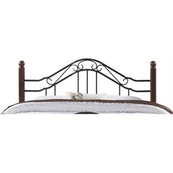 Hillsdale Madison King Poster Headboard in Textured Black